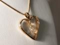 Omarbetning 4 - Slät ring till hängsmycke med bergkristalldroppe