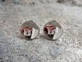 Örhänge 2 - Spegelblanka vitguldsörhängen med diamanter