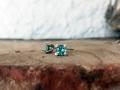 Örhänge 3 - Vitguldsörhängen med grönblå turmaliner