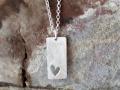 Halsband 15 - Silverhalsband med utsågad hjärta