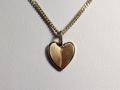 Halsband 17 - Rödguldshjärta, sidenmatt