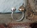 Ring 18 - Silverring med pärla och rutilkvarts